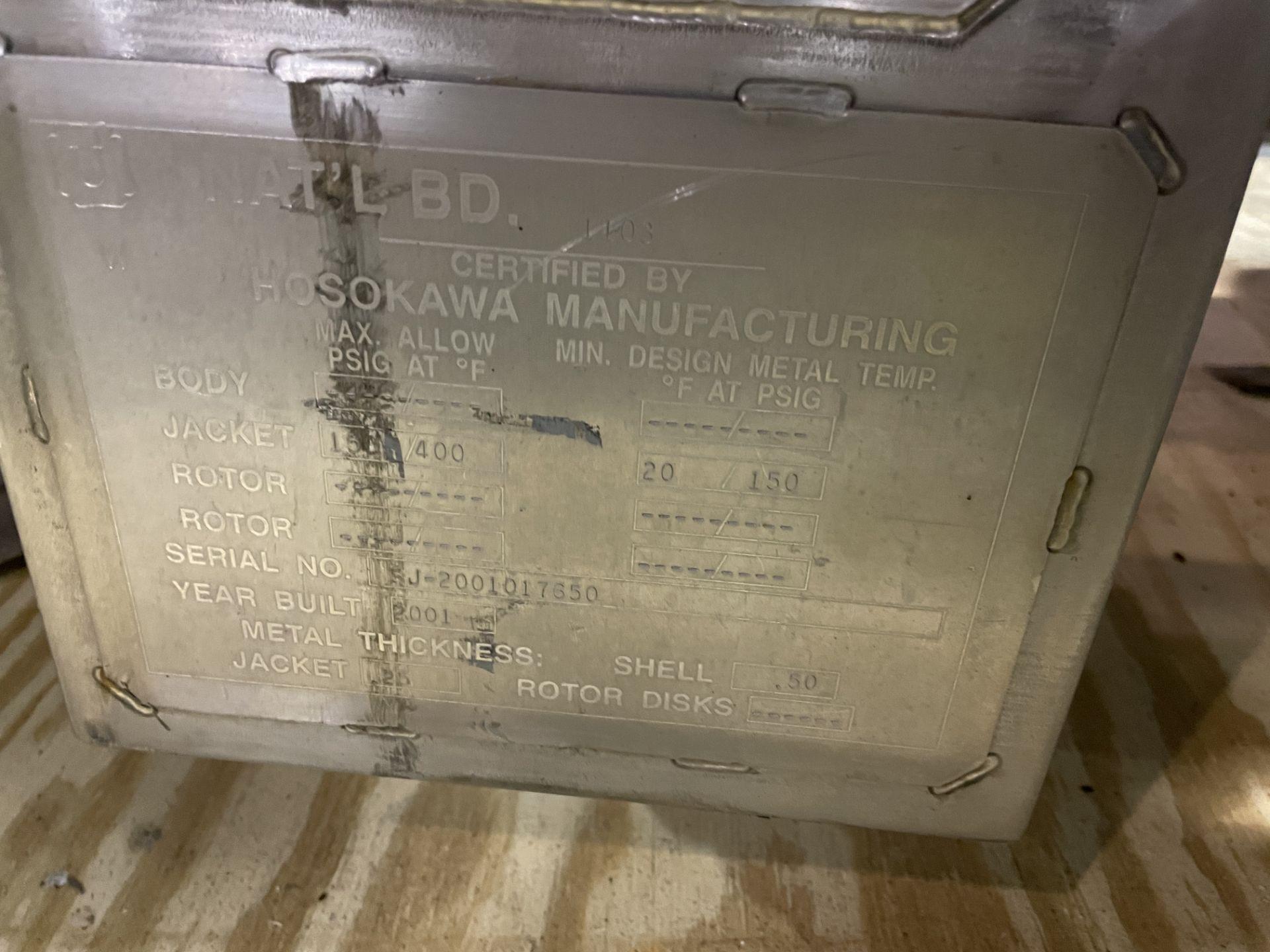 Bepex - Hosokawa Solidaire Thin Film Paddle Dryer Model SJS 24-14 S/N SJ-2001017650 With Mokon Model - Image 6 of 12