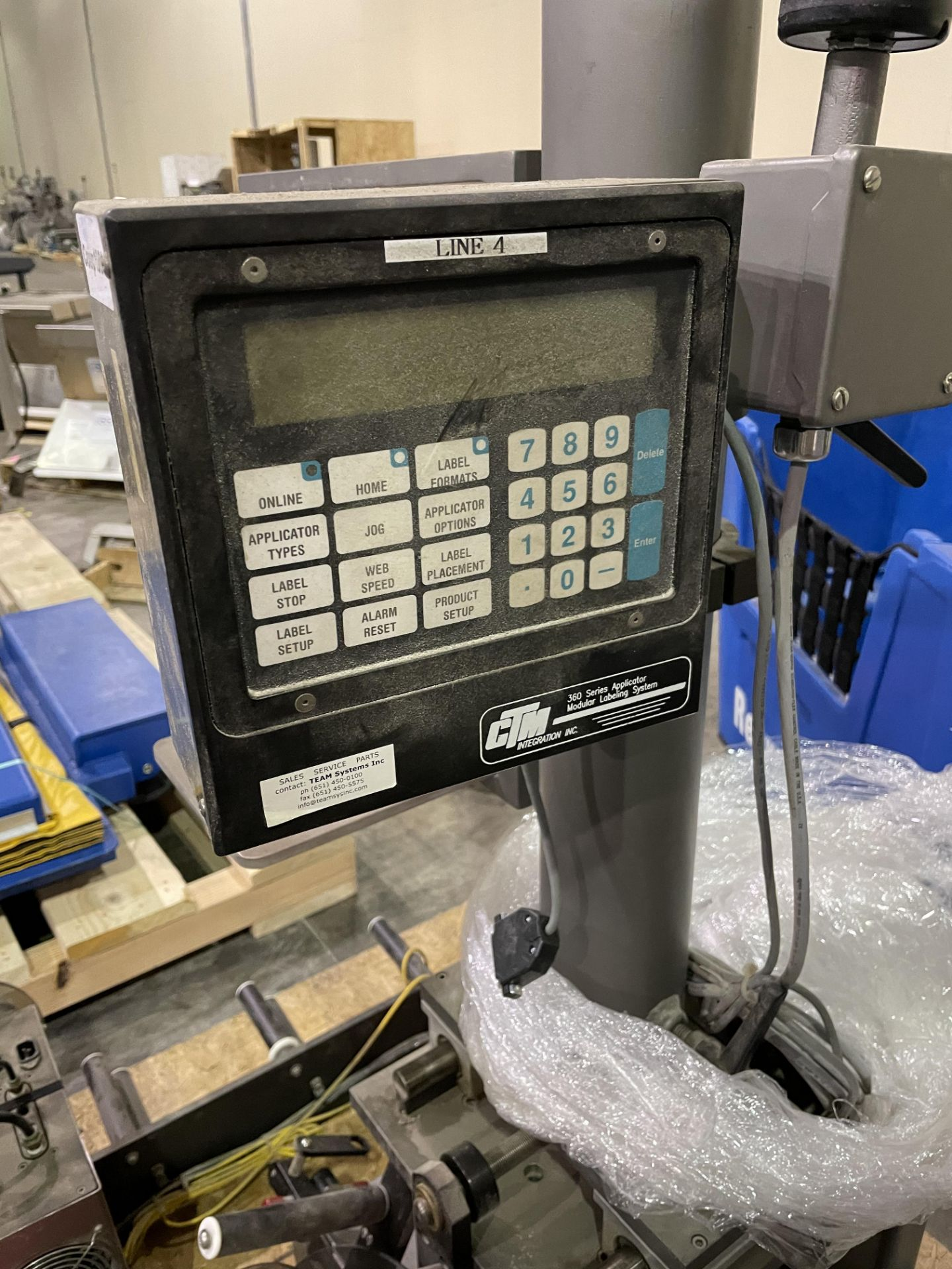CTM Integration Labeler Model 360 S/N 360-2001-0309 Loading/Rigging Fee $35 - Image 4 of 4