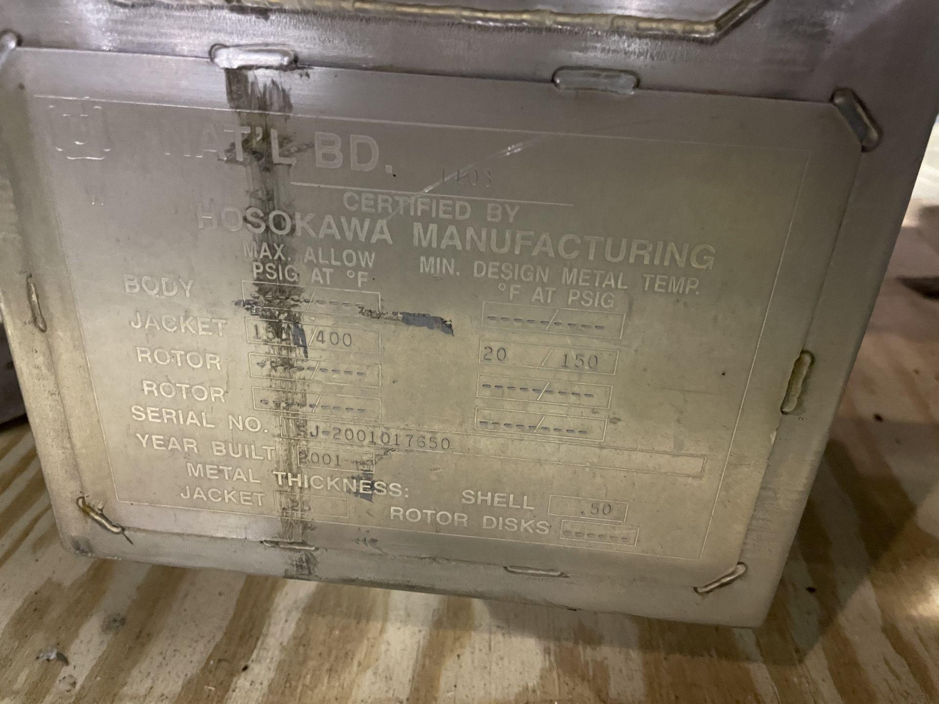 Bepex - Hosokawa Solidaire Thin Film Paddle Dryer Model SJS 24-14 S/N SJ-2001017650 With Mokon Model - Image 7 of 12
