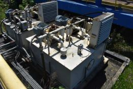 Thermal Transfer Products Hydraulic Power Unit, ID 01-HYD-01C, Includes (2) 75 HP Motors & Pump,