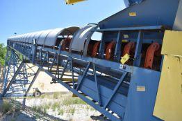 "Superior Motorized Radial Stacker Belt Conveyor, 42"" Wide x 125' Length, Includes Bruks Rockwood/"