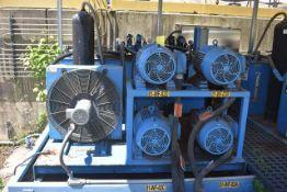 Bruks Hydraulic Power Unit Includes (4) 15 HP Motors and (4) Hydraulic Cylinders