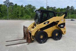 Caterpillar Model #262C Skid Steer Loader, Enclosed Cab, ID #CATO262CKMST02905