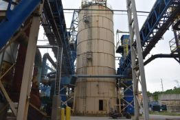 Laidig Silo ID 02-TK-01. Dimensions 25' Diameter x 65', Includes Reclaimer ID 02-TK-01A and