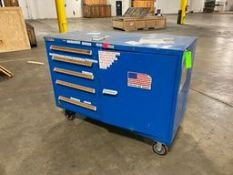 Stanley Blue Wheeled Tool Box Rigging Price: $50