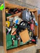 Wood Box of Aro Air Power Tools & Misc. Calibration Equipment Rigging Price: $50
