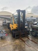 Hyster Lift Truck Model H80XM, S/N #K005V02354Z, Truck Weight = 14760 lbs Rigging Price: $100