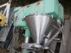 ALL-FILL TWIN AUGER FILLER, MODEL TA, SERIAL #1276925,SS CONTACT, C/W SHORT COLUMN & MOUNTING FLANGE