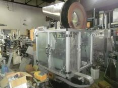 Resina LC Single Chuck Capper, Set to handle Gallon containers,.rebuilt, with new electrics &