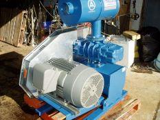 Aerzen Delta Blower c/w 30hp motor, Serial # 34850, Capacity V 48 L, Working Pressure: PS 1.1 Bar, W