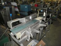 """Loma 7000 Check-weigher, 3 belt unit, infeed conveyor 28"""" long, weigh area 12"""" long, exit conveyor 3"""