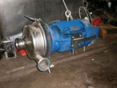 "Hilge/Gundfos Centrifugal SS Pump, Model #HYGIA-Super 11/60A, c/w 7.5hp x 3400rpm motor, 208v, 3"""