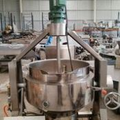 New 100 litre Gas Fired Jacketed Cooker Mixer, Rigging and Loading Fee: $100 Crates and Pallets ex