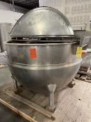 Hamilton 500 Gallon Double Motion Jacketed Kettle with Drive Motor, 90 PSI Rated, Serial #3147, Rigg
