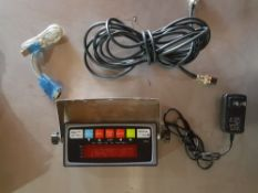 Set of prime floor scales 5000 lb 48x48 Comes with power adaptor , 202 indicator , 15' 4 pin