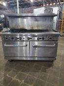 Cook rite commercial range 4 burner , flat top , double oven Natural gas Unit will be cleaned