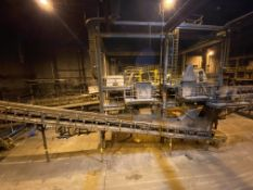 Mezzanines and Connected Conveyor (Cut off at Building Exterior), Rigging Fee: $25,000