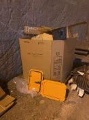 Box of Blast Doors, Clamps, Tensioners (All Photoed), Rigging/ Removal Fee: $100