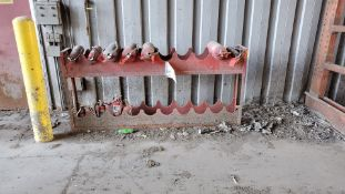 """Fire Extinguisher Rack, 8' Long x 14"""" Deep x 44"""" Tall, Rigging/ Removal Fee: $100"""