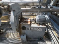 NY Blower Direct drive blower driven by 10HP motor 10/460/3600/215T. Model 2303 steel, pressure