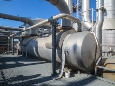 Evaporative Condenser, mfg by DCR Construction. Insulated Horizontal shell & tube heat exchanger,