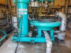 Disc centrifuge clarifier, Fluid-Quip Model FQC-950T-E, sn 14CF3322. Designed for 600 gpm, bowl