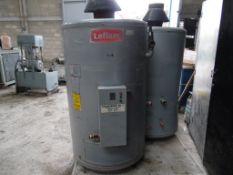 2 calentadores marca leflam modelo 42, carga térmica de 41.8, de rápida recuperación y capacidad