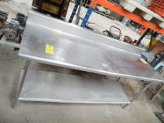 Mesa de acero inoxidable con entrepaño, Largo 200 cm, ancho 70 cm, alto 86 cm. (Stainless steel