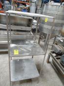 Anaquel de acero inoxidable con 3 entrepaños, 70 cm x 70 cm x 166 cm de alto. (Shelf stainless steel