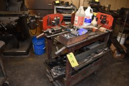 Shop Cart w/Contents - Machine Vise, Hold Downs, Assorted Tools