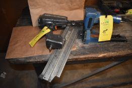 (1) Duo Fast Pneumatic Nail Gun, (1) Pneumatic Staple Gun