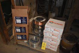 Welding Wire - (5) Boxes Hobart Quantum Arc 6, (6) Part Spools Welding Wire, (2) Boxes Delta