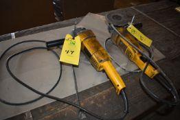 Qty. (2) Dewalt Model DW840 Electric Hand Grinders