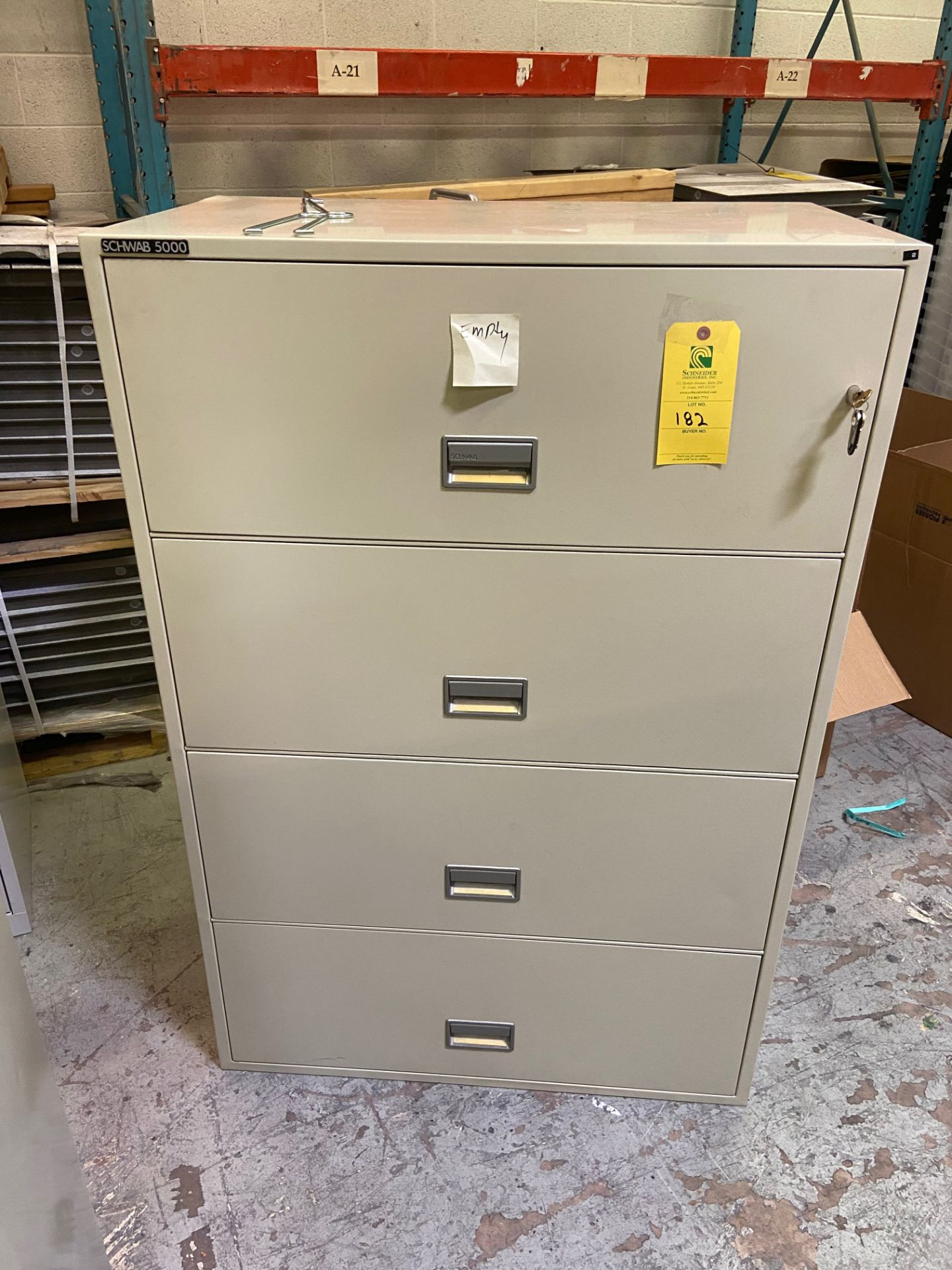 Fire Cabinet, Model# 4HC36-5, (NO CONTENTS), Rigging Fee: $50