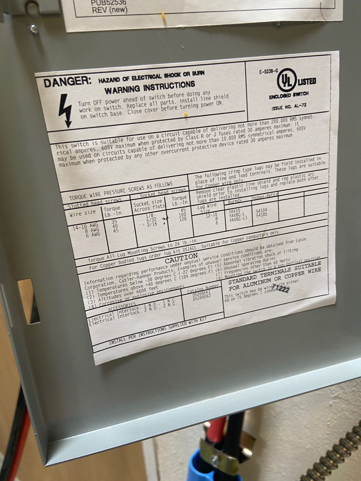 Pallet of Electrical Components, Includes: (SEE PHOTOS FOR ALL INCLUDED) Eaton Heavy Duty Safety - Image 18 of 19