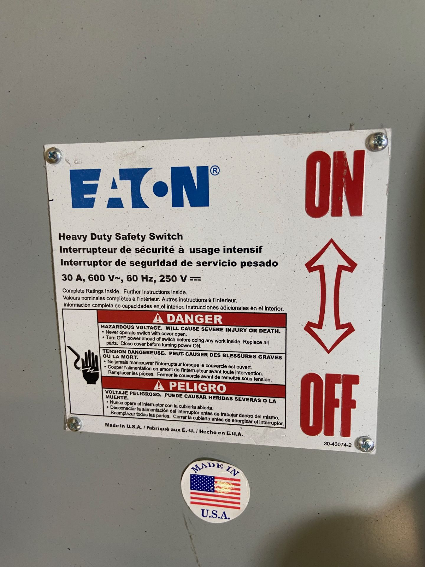 Pallet of Electrical Components, Includes: (SEE PHOTOS FOR ALL INCLUDED) Eaton Heavy Duty Safety - Image 4 of 19