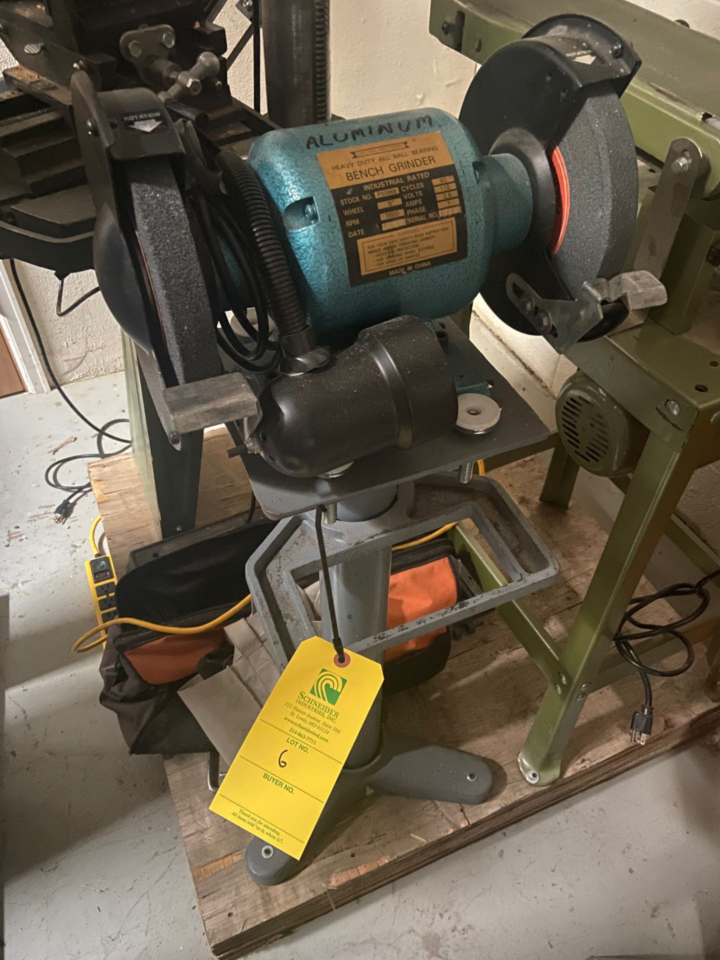 Central Machinery Heavy Duty Bench Grinder, Stock# P50968, 110V, 3600 RPM, Loading/Removal Fee: $25 - Image 2 of 4