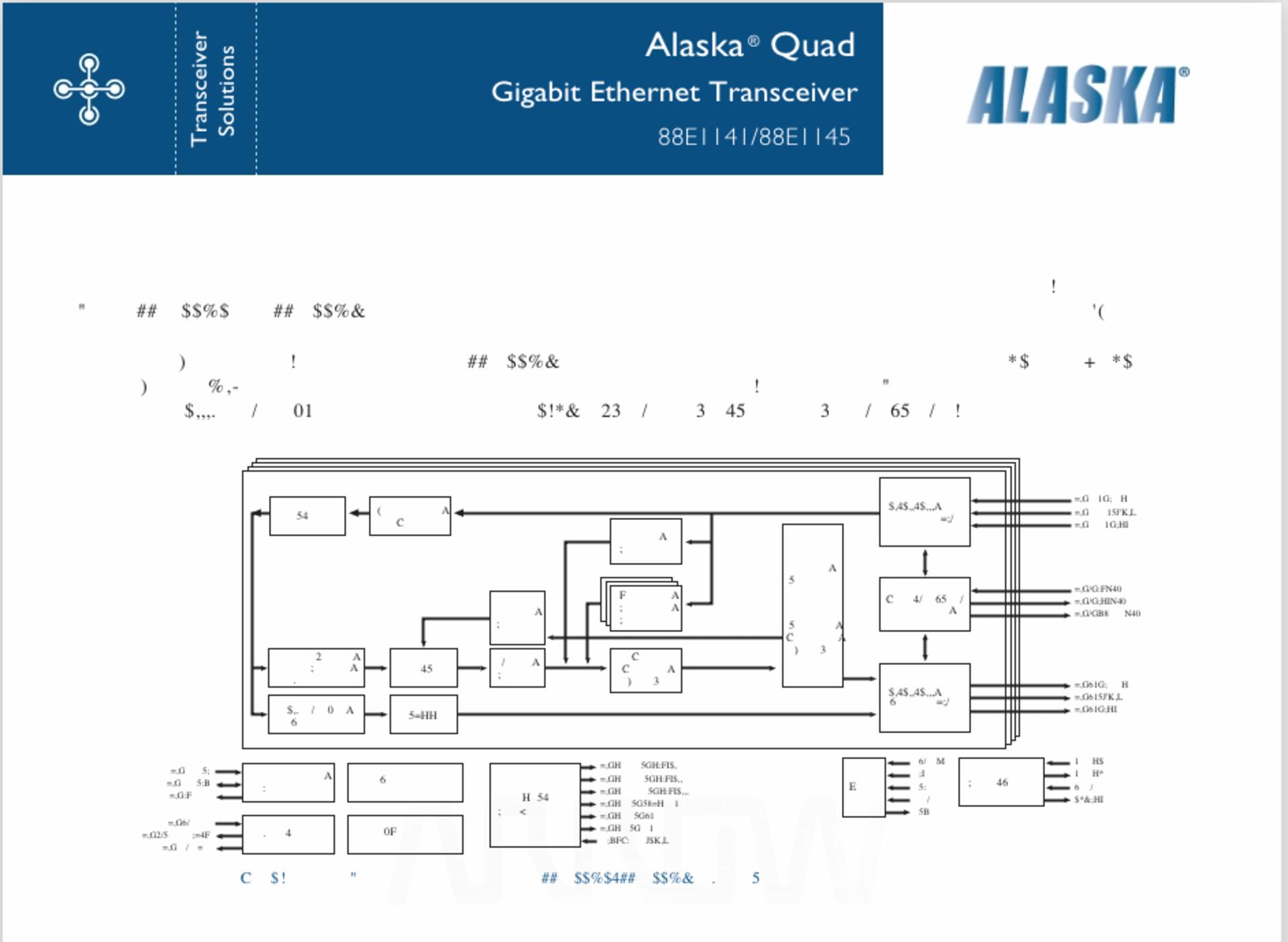 Alaska Quad Gigabit Ethernet Transceiver 88E1145 ,IC, 4-port Gigabit, 2.5V SSTL_2 (LF), QTY 1 - Image 5 of 6