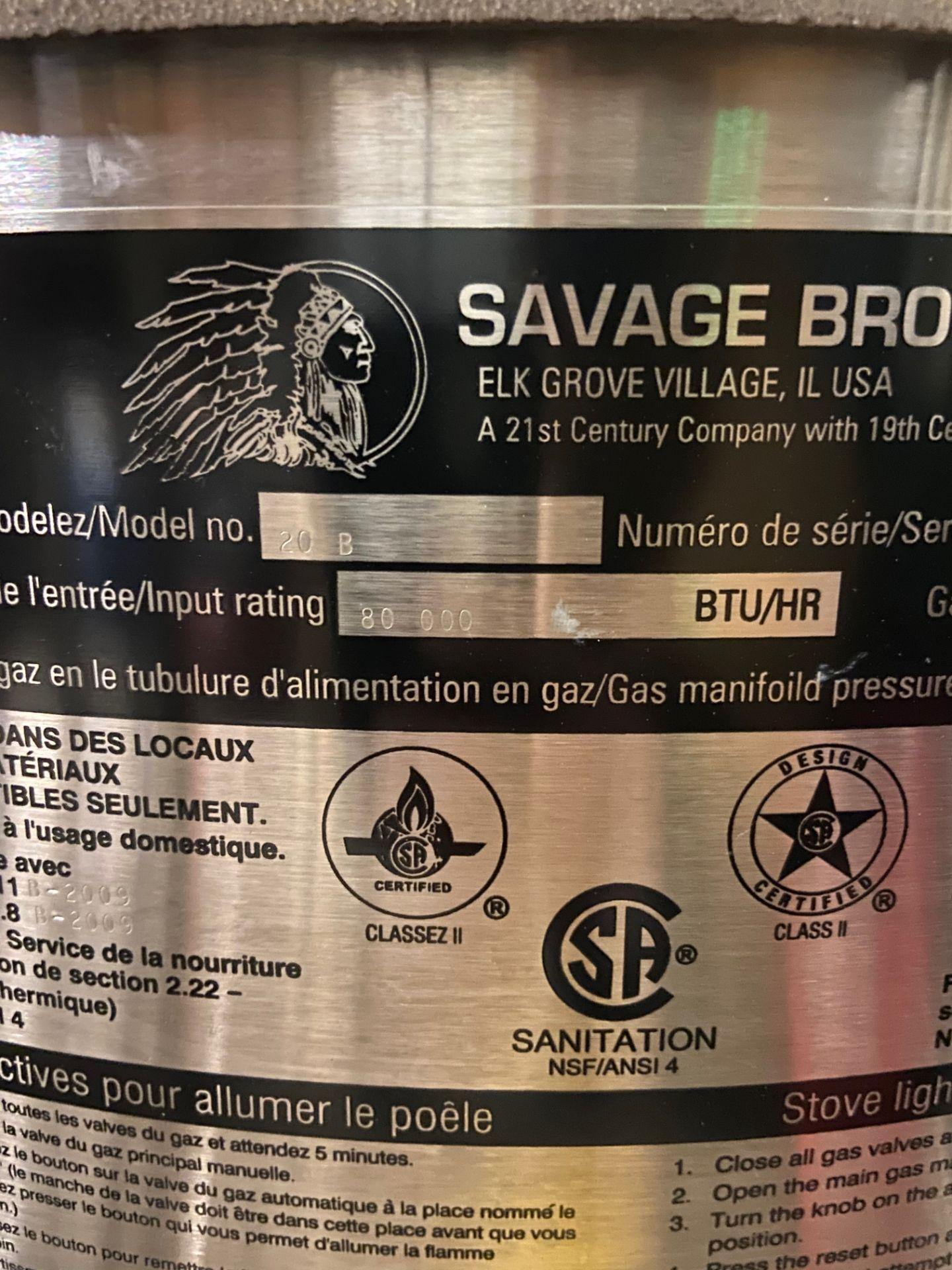 NEW Savage Bros Gas Candy Stove, Model# 20B, Serial# 024376, 80,000 BTU/HR - Image 2 of 6