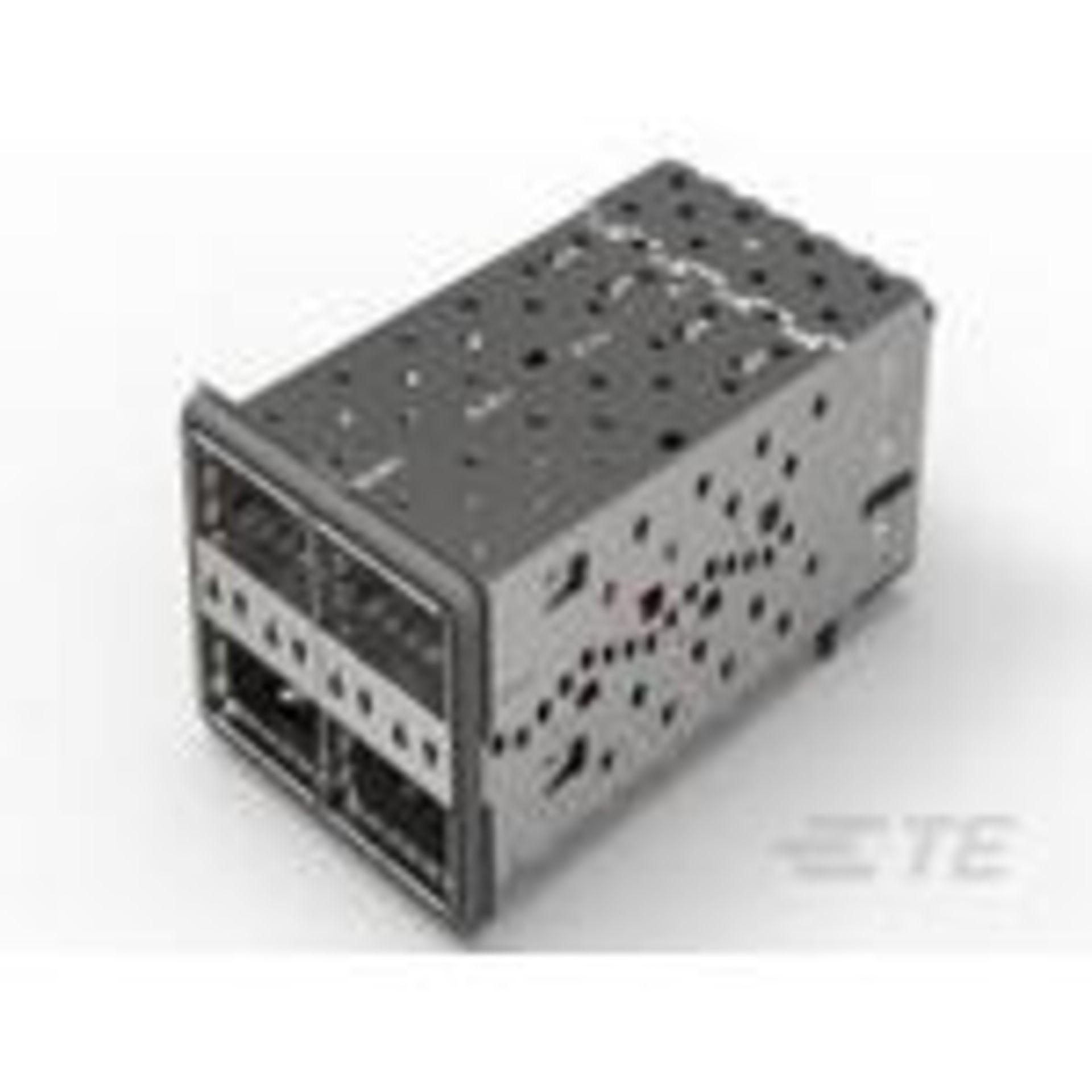 TE Connectivity 2214574-3, Connector Telephone and Telecom, Conn QSFP F 152 POS Press Fit RA Thru-