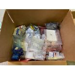 Box of Miscellaneous Computer Electronics Components, Includes: ; Fan Assembly; Intel AF82US15W; IC,