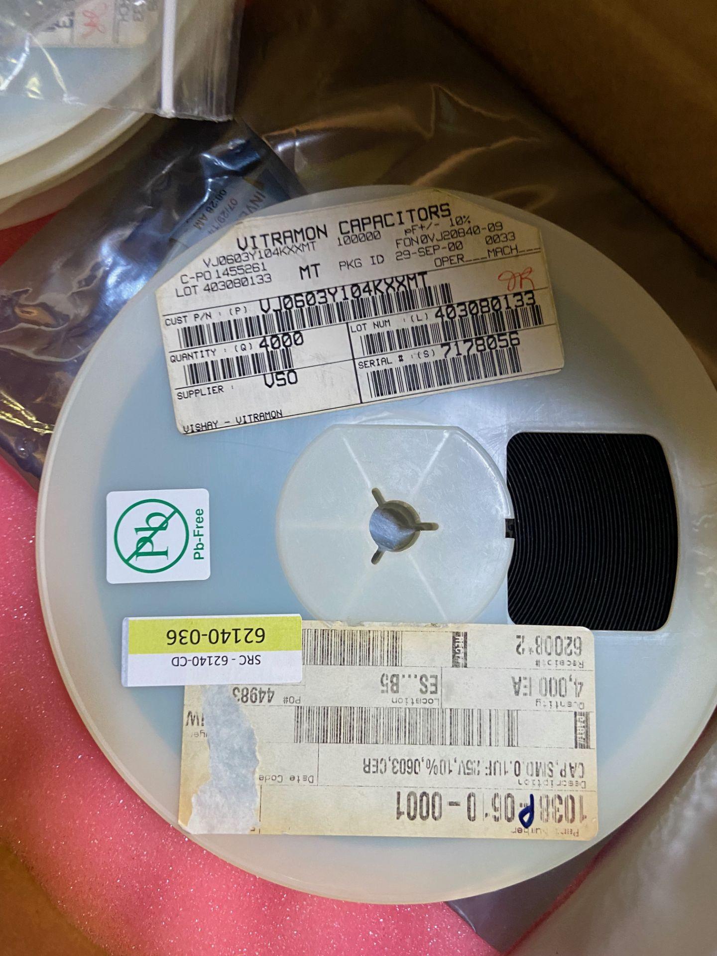 Vishay VJ0603Y104KXXMT, Cap Ceramic 0.1uF 25V X7R 10% Pad SMD 0603 150°C Automotive T/R, APROX QTY - Image 11 of 15