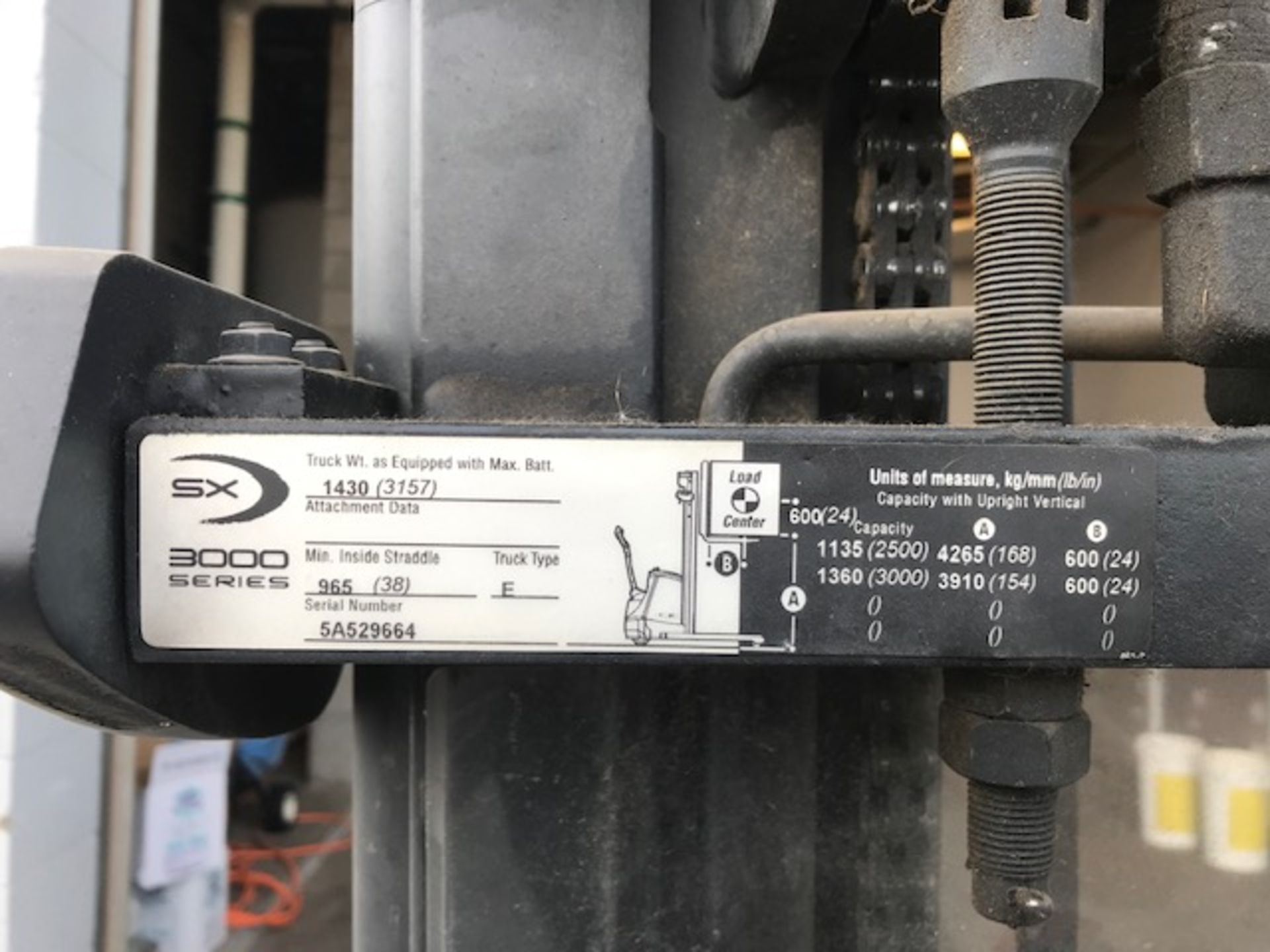 Electric Pallet Jack - Crown Lifttruck - 3000 Series, Serial# 5A529664, Model# SX3000-30, 24V, 167.2 - Image 2 of 6