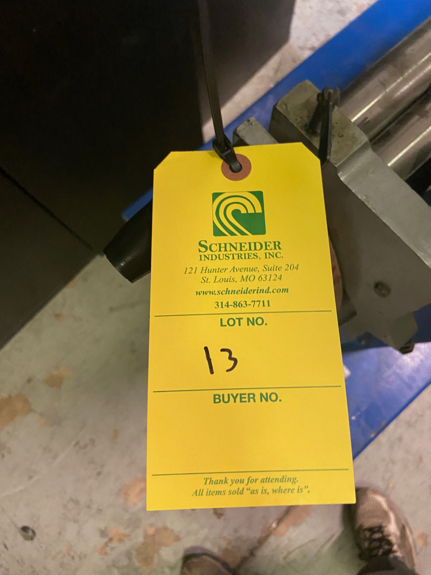 Durham Sheet Metal Brake/Bender, Model# WSR-4, Loading/Removal Fee: $20 - Image 5 of 5