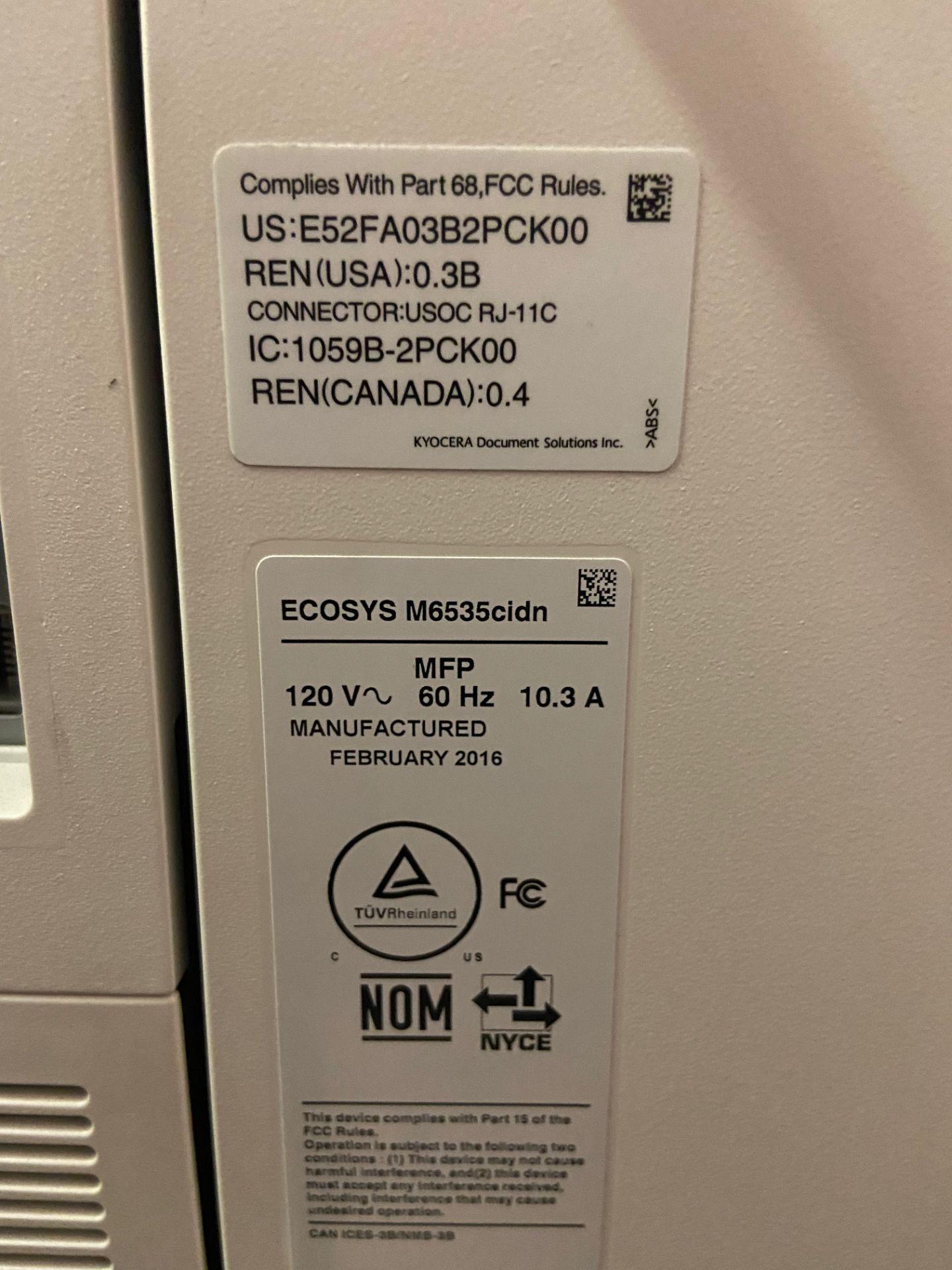 Kyocera Ecosys Printer, Model# M6535cidn, 120V, 60 Hz, Loading/Removal Fee: $20 - Image 5 of 6