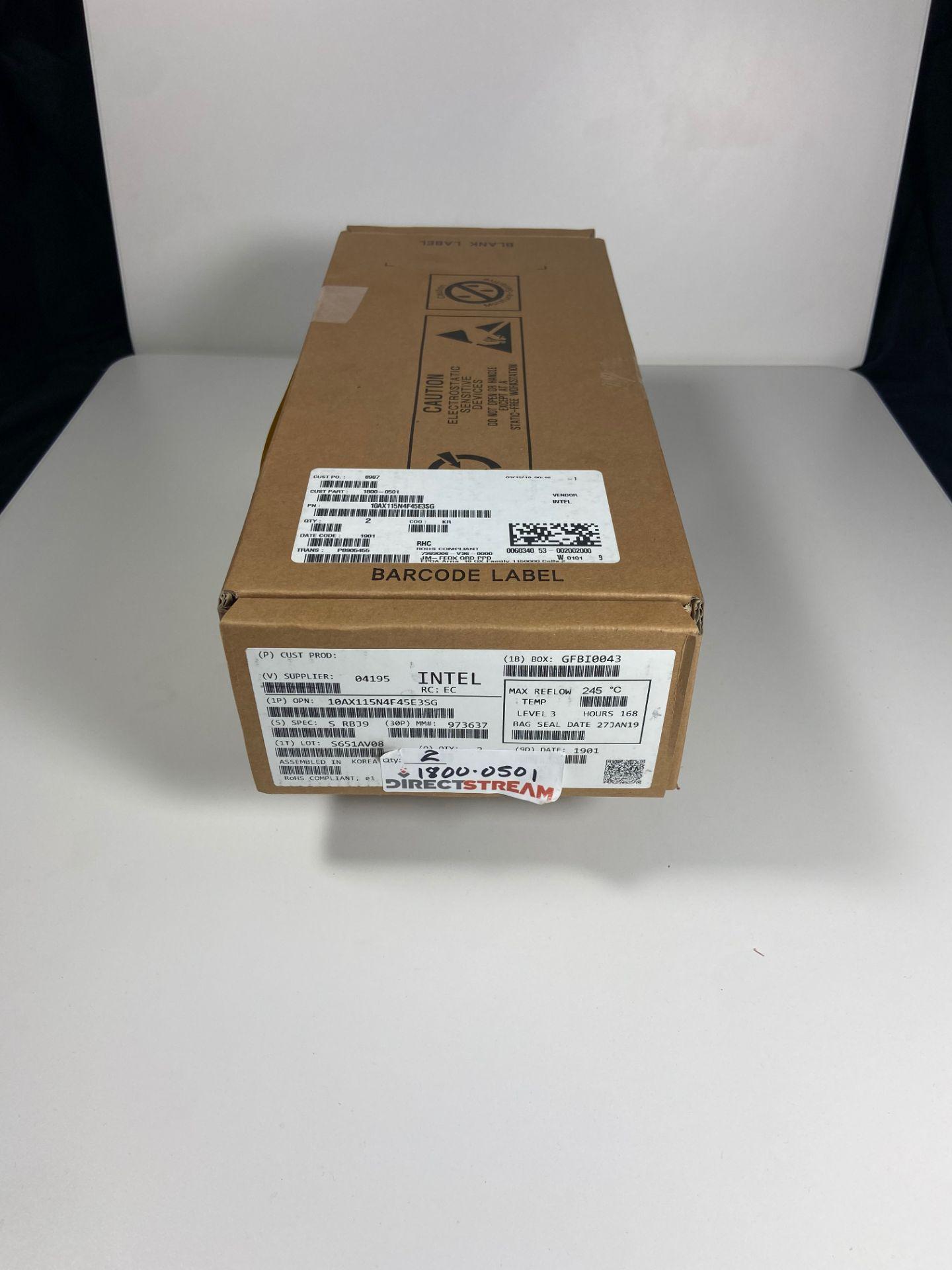 Intel 10AX115N4F45E3SG, QTY 2, FPGA Arria 10 GX Family 1150000 Cells 20nm Technology 0.9V - Image 2 of 6