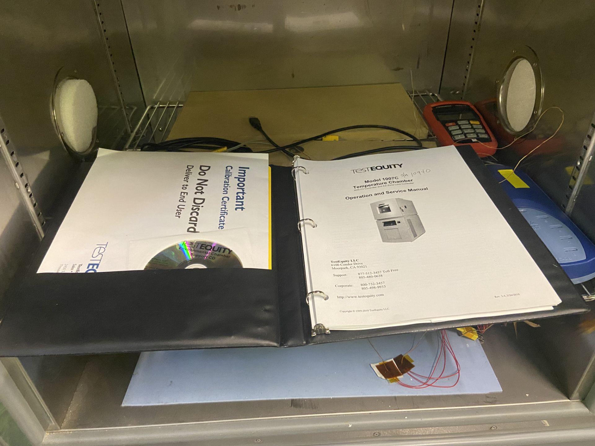 TestEquity Temperature Chamber, Model# 1007C, Serial# 10940, Temp Range: -75C to +175C, 208V, Single - Image 7 of 12