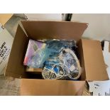 Box of Miscellaneous Computer Electronics Components, Includes: Adaptec SCSI Card 39160;