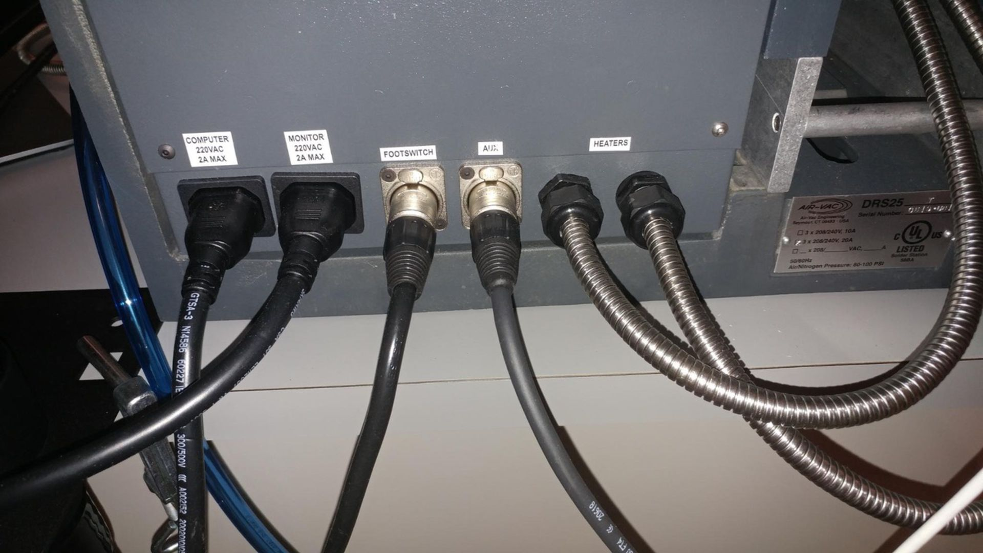 Air-Vac Rework Station, Model# DRS25, Serial# 0519-U6175, 208/240V, 3 Phase, 20 Amps, 50/60 Hz, - Image 10 of 14