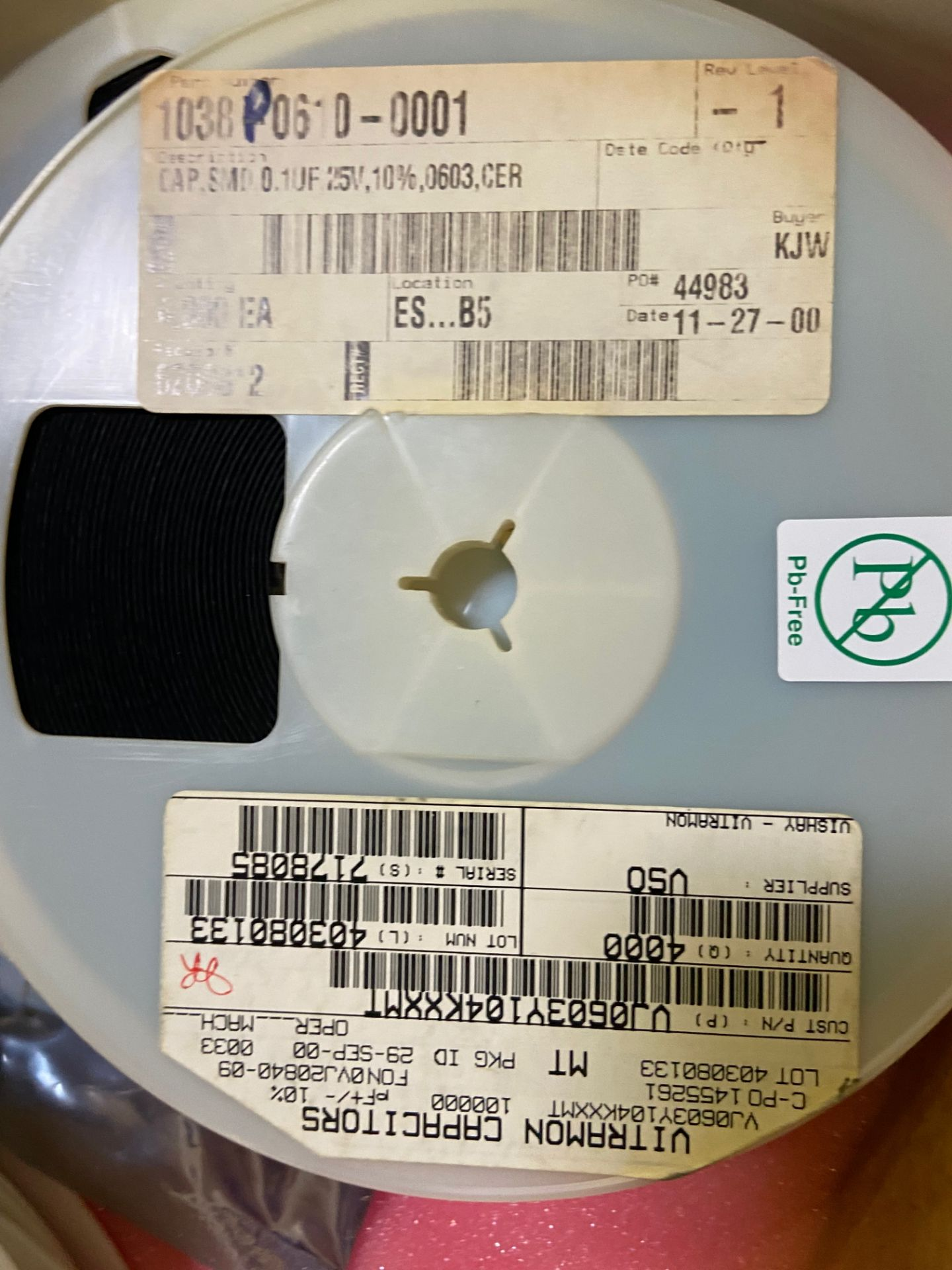 Vishay VJ0603Y104KXXMT, Cap Ceramic 0.1uF 25V X7R 10% Pad SMD 0603 150°C Automotive T/R, APROX QTY - Image 9 of 15